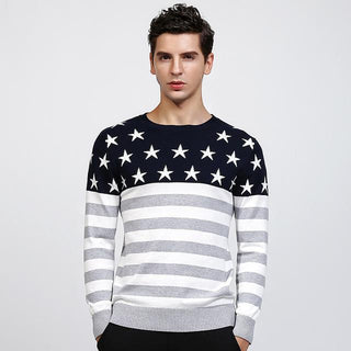 Men's Gray American Winter Sweater