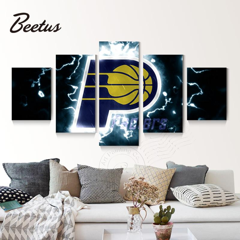 5 Panel Indiana Pacers Lightning Canvas