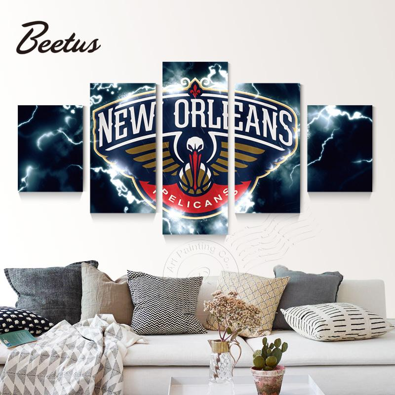 5 Panel New Orleans Pelicans Lightning Canvas