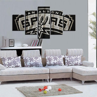 5 Panel San Antonio Spurs Canvas