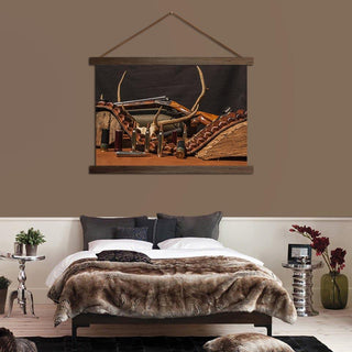 Hunting Gun Scroll Canvas
