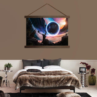 Planet Animal Deer Scroll Canvas