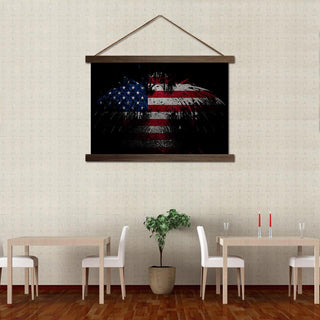 The Patriotic Bald American Eagle Scroll Canvas