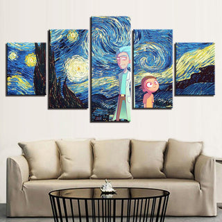 Rick And Morty Starry Sky Canvas