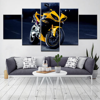 5 Panel RAZR XT925 Motorcycle Canvas