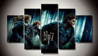 5 Panel Harry Potter Trio Canvas