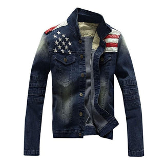 Men's Denim Blue American Jean Jacket