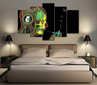 Abstract Man Smoking Weed Canvas