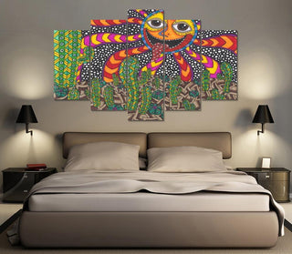 Happy Sun Abstract Weed Canvas
