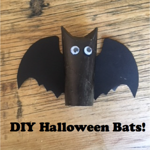 Keep little fingers busy and make your own Halloween Bats!