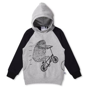 MINTI - MONO MONSTER FURRY HOOD - GREY