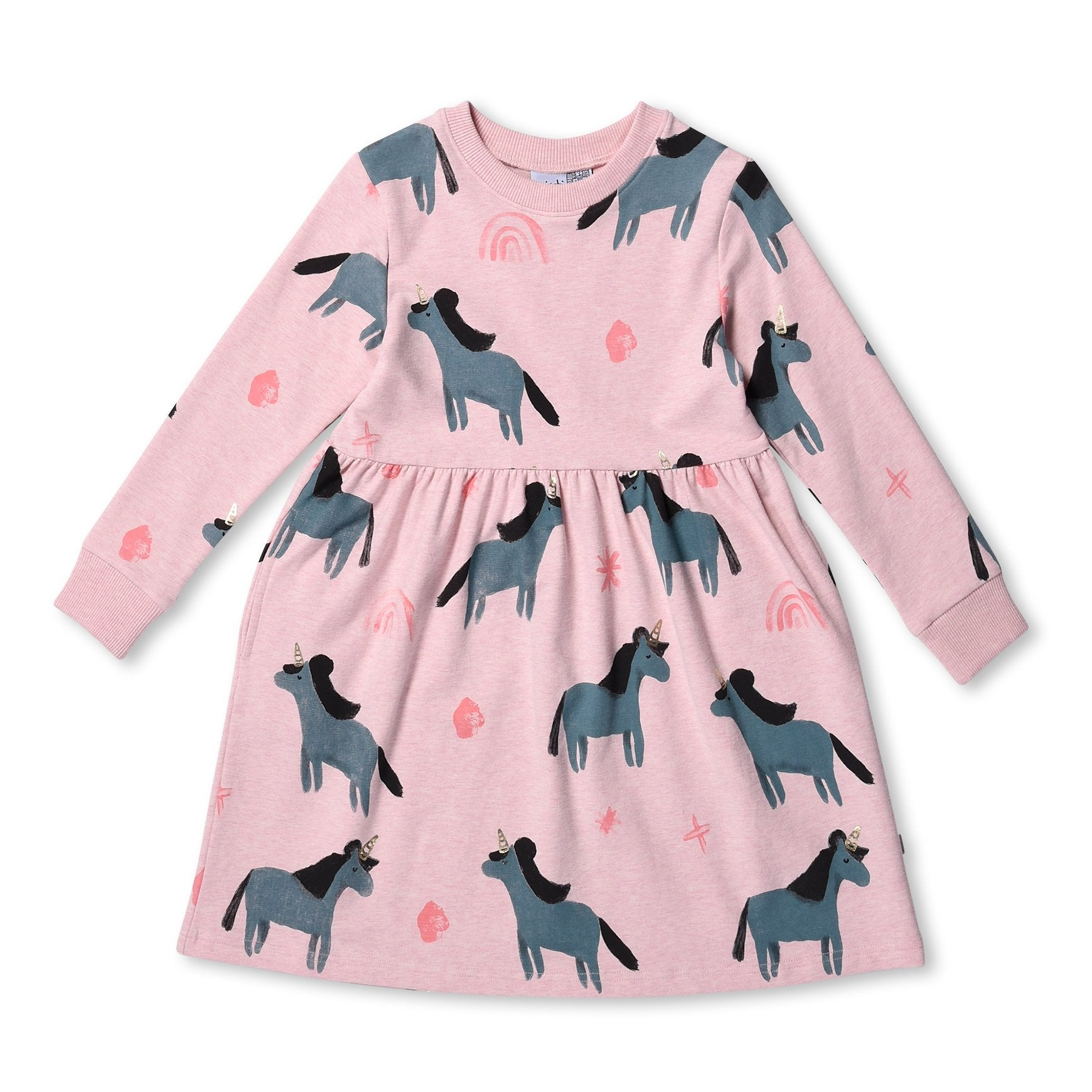 MINTI - MAGICAL JUMPER DRESS - PINK MARLE