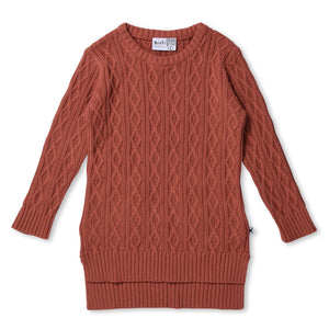 MINTI - CHUNKY KNIT DRESS - ROSEMARY