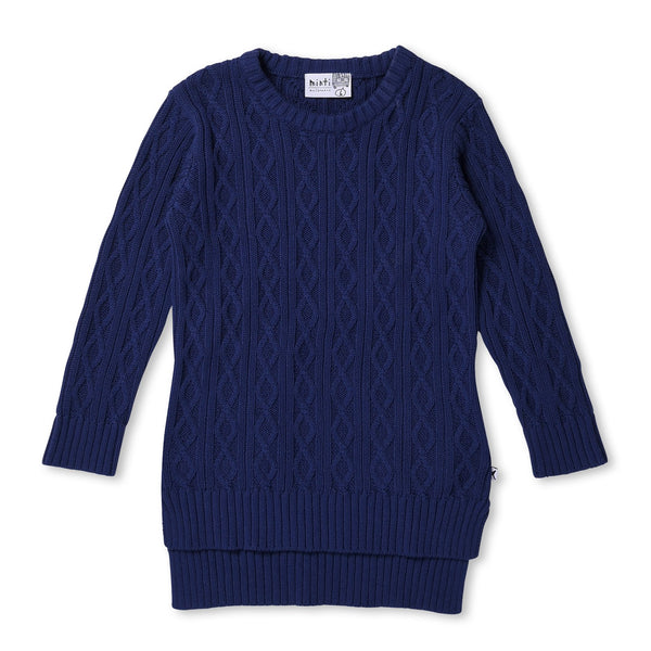 MINTI - CHUNKY KNIT DRESS - VIOLET BLUE