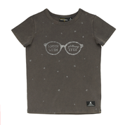 Rock Your Kid - Glittering Eyes SS T-Shirt - Charcoal