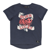 Rock Your Kid - Born Lucky SS T-Shirt - Blue Wash