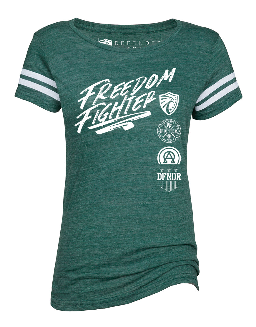 Ladies Vintage FREEDOM FIGHTER Triblend Football Tee