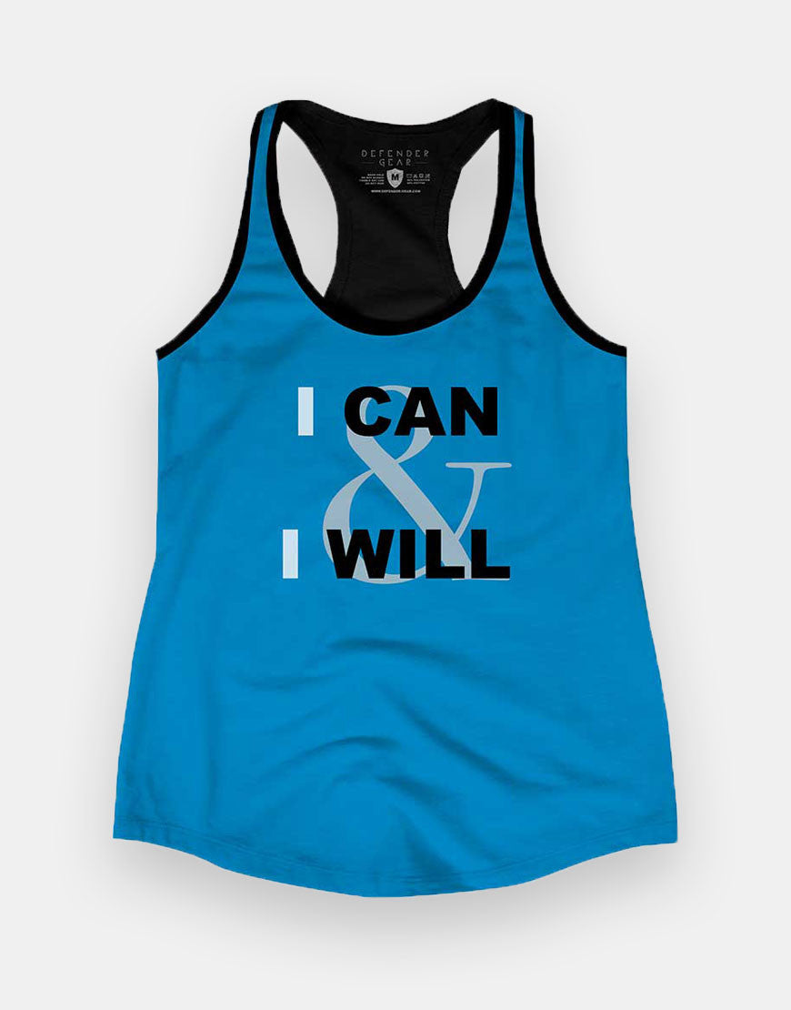 Ladies - I CAN & I WILL Racerback Tank