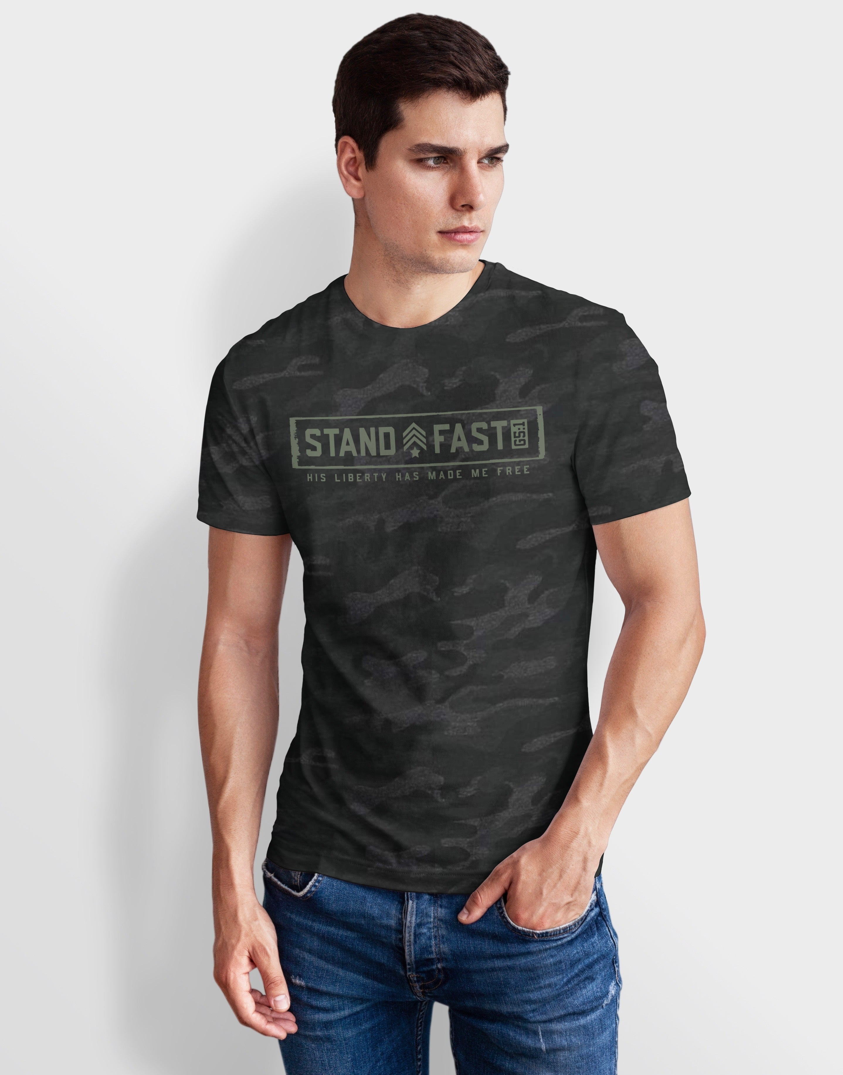 Mens STAND FAST Jersey Tee