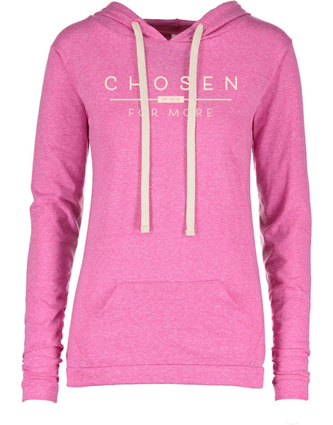 "Ladies ""Chosen for More"" Melange Hooded Tee"