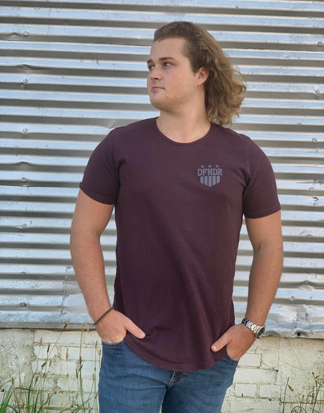 DFNDR Shield Series - Curved Hem Fashion Tee