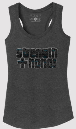 Ladies - STRENGTH & HONOR Racerback Tank