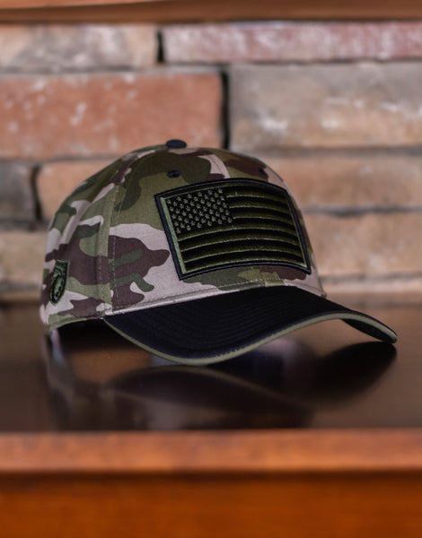 Defender Gear Low Pro Twill Embroidered Flag Patch Cap