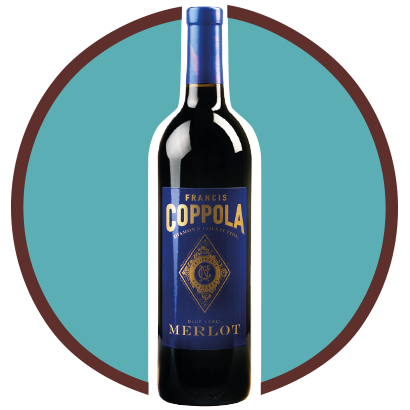 FRANCIS COPPOLA BLUE LABEL, Merlot, U.S.A.