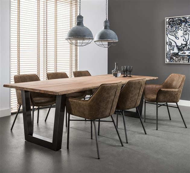 Cape Town Dining Table 200cm Feather Burl