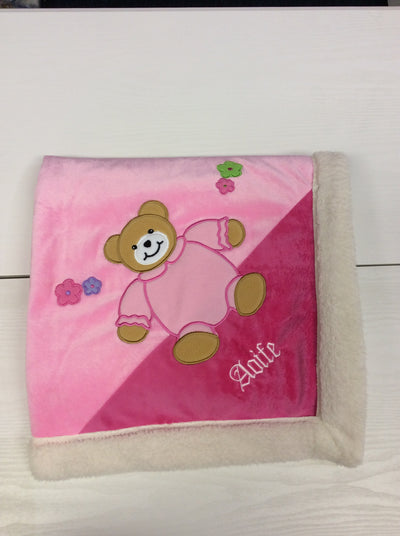 Personalised Sherpa Bear Blanket
