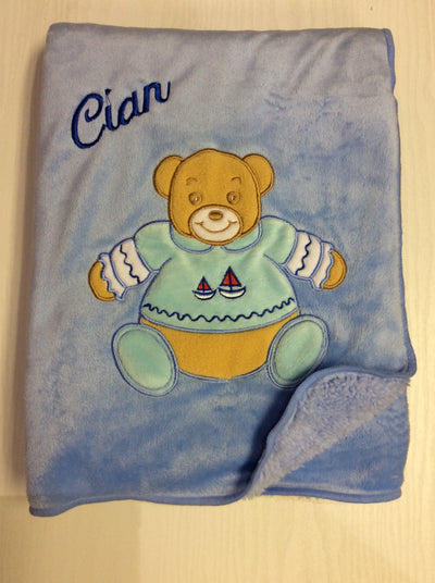 Personalised Snuggle Bear Blanket