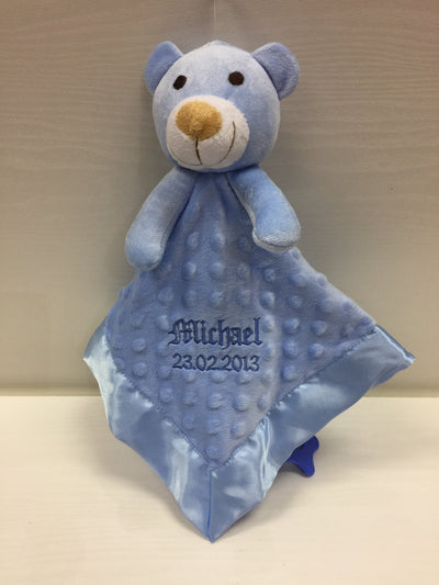 Personalised Dimpled Bear Comforter by The Gift Rooms