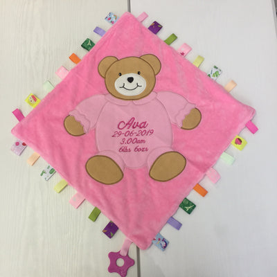 Extra Large Personalised Taggie Bear Comforter