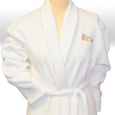 Personalised Velour Wedding Robes by The Gift Rooms