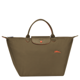 Le Pliage Club Bolso de Mano M Khaki - Luxury Avenue Boutique