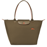 Le Pliage Club Bolso Shopper L Khaki - Luxury Avenue Boutique