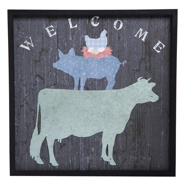Welcome Farm Animal Layered Wall Decor