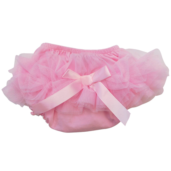 Pink Frilly Mesh Ruffled Butt Bloomer Baby/Toddlers