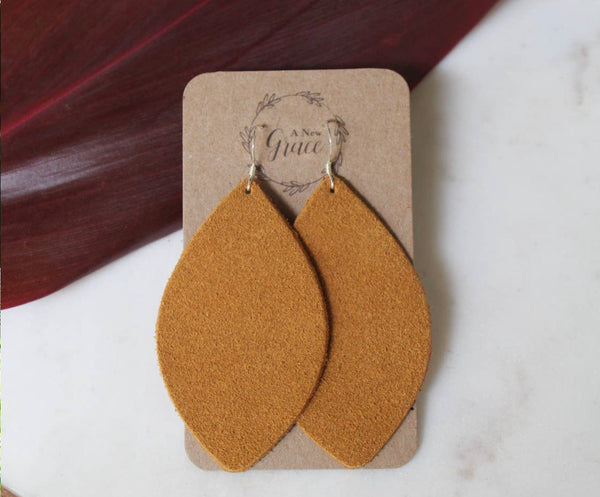 Suede Petal Earrings