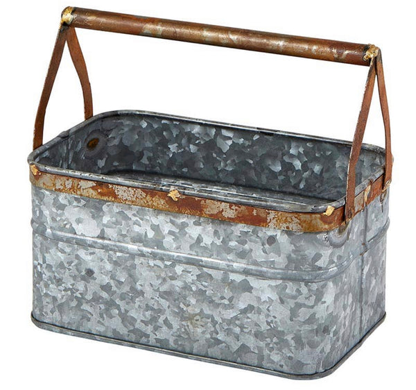 Metal Caddy Planter