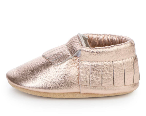 Rose Gold Baby Moccasin