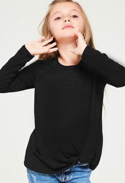 Young Lady- Basic Twist Top - Black