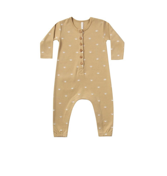 Long Sleeve Jump Suit - Honey