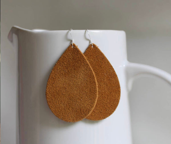 Suede Teardrop Earrings
