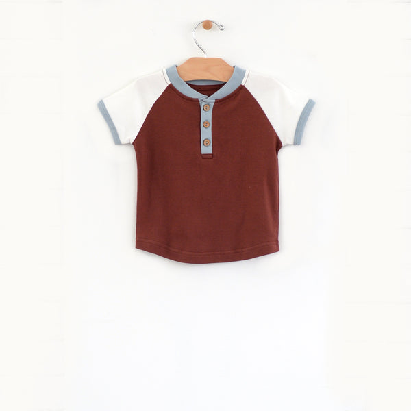 Henly Tee - Rust/Blue Fog