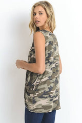 Army Strong Camo Tank Top - Tank Top- Lucy and Lou Boutique - www.lucyandlou.com