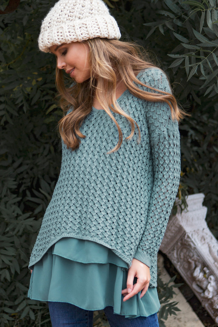 Blooming Beauty Sweater - Sweater- Lucy and Lou Boutique - www.lucyandlou.com