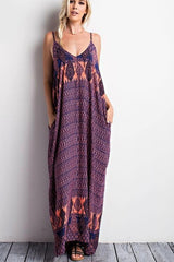 Coral Boho Beauty Maxi Dress - Dress- Lucy and Lou Boutique - www.lucyandlou.com