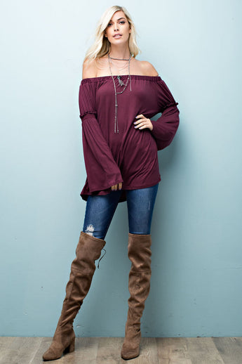 Find Your Fire - long sleeve top- Lucy and Lou Boutique - www.lucyandlou.com