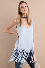 Fringe For Days Tank Top - Tank Top- Lucy and Lou Boutique - www.lucyandlou.com